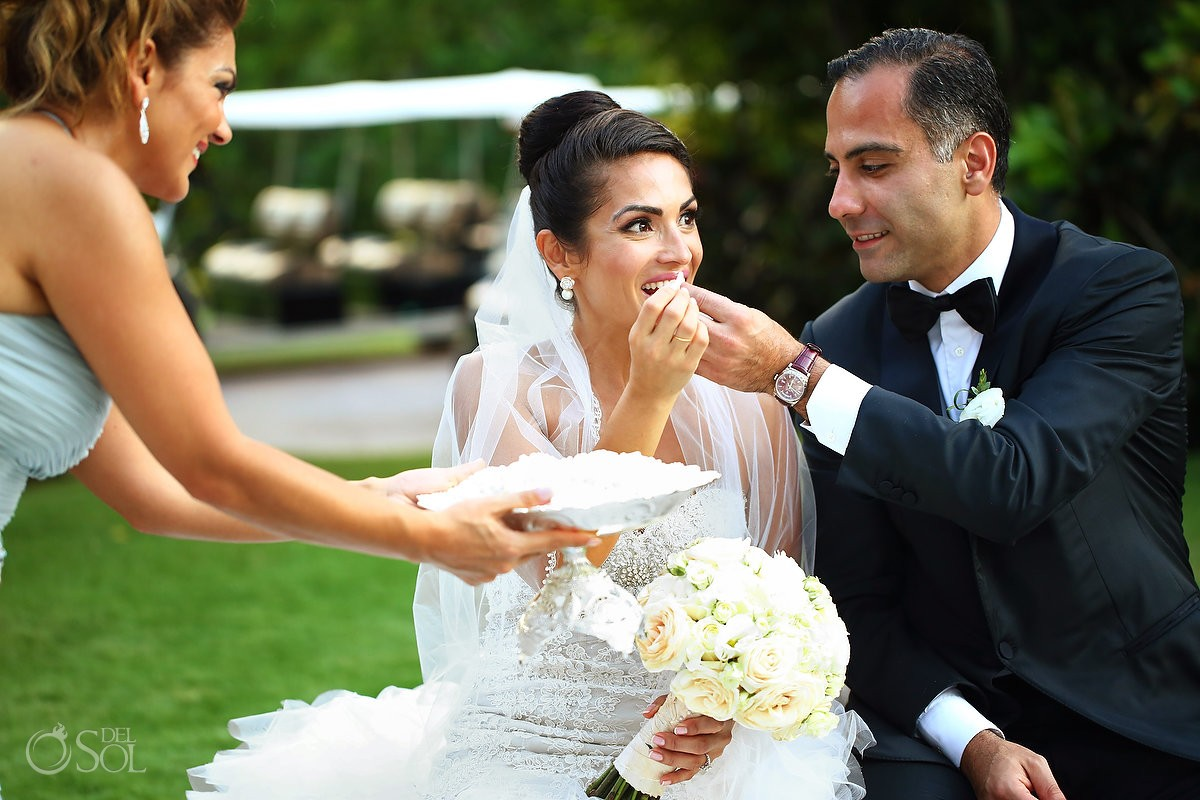 Honey exchange Persian wedding tradition Rosewood Mayakoba, Playa del Carmen, Mexico