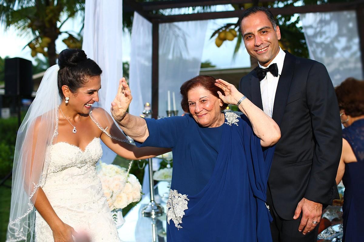 Grandma dancing, Persian Wedding Rosewood Mayakoba, Playa del Carmen, Mexico