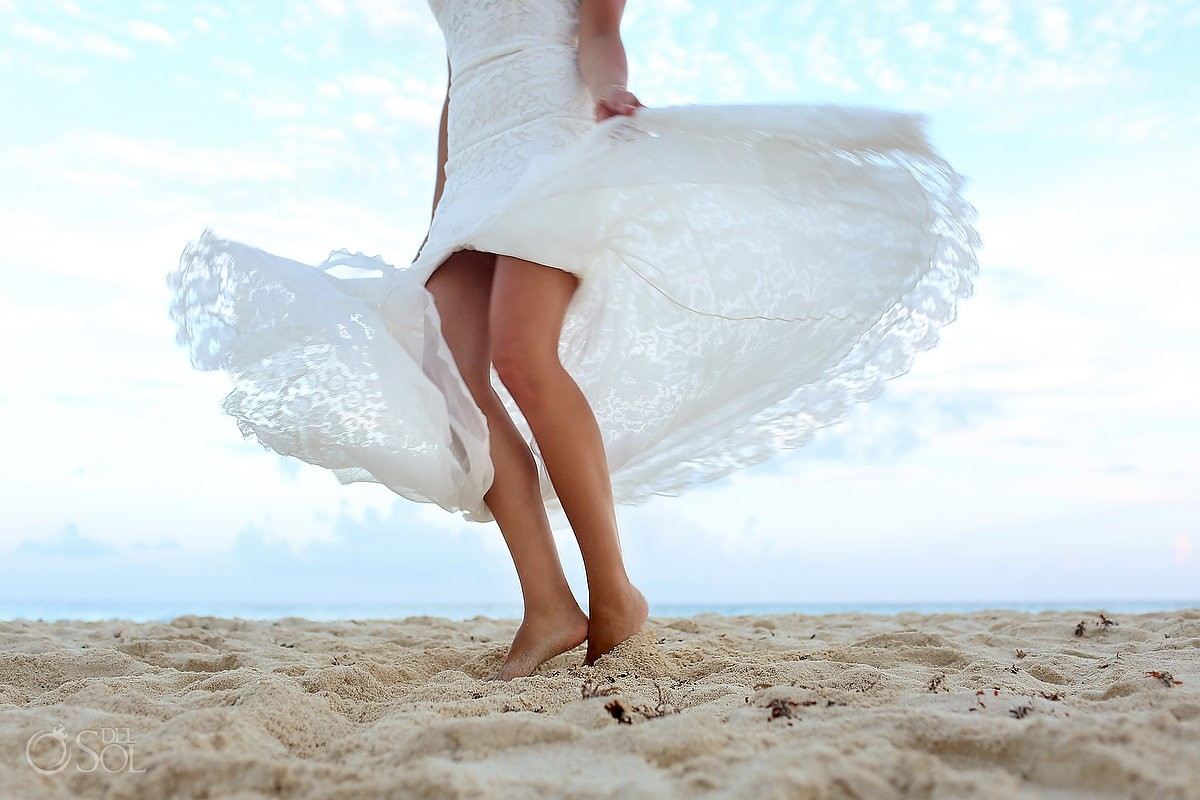 Secrets the vine cancun beach wedding bride