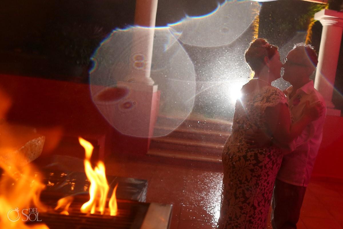 destination wedding in the rain in Soliman Bay Mexico
