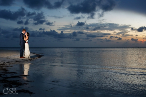 Sunset Beach Wedding portraits, Nizuc Resort Cancun, Mexico