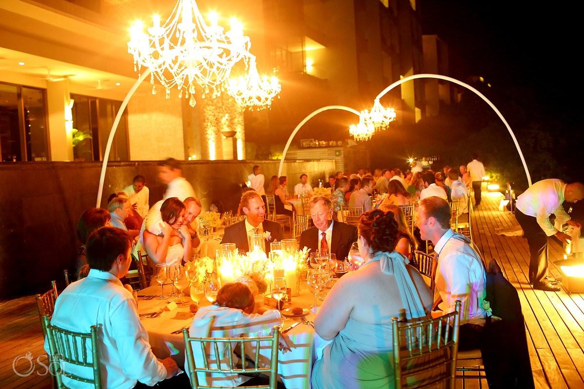 Wedding reception, Nizuc Resort Cancun, Terra Nostra Deck, night time