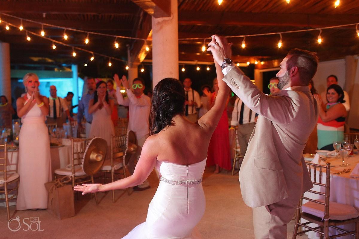 wedding reception bride groom entrance Secrets Maroma, Riviera Maya, Mexico