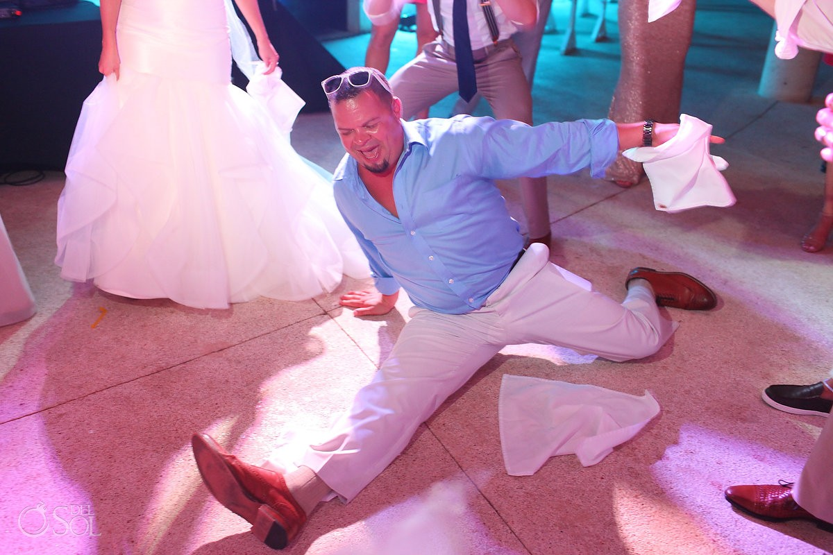 wedding reception fun splits Secrets Maroma, Riviera Maya, Mexico