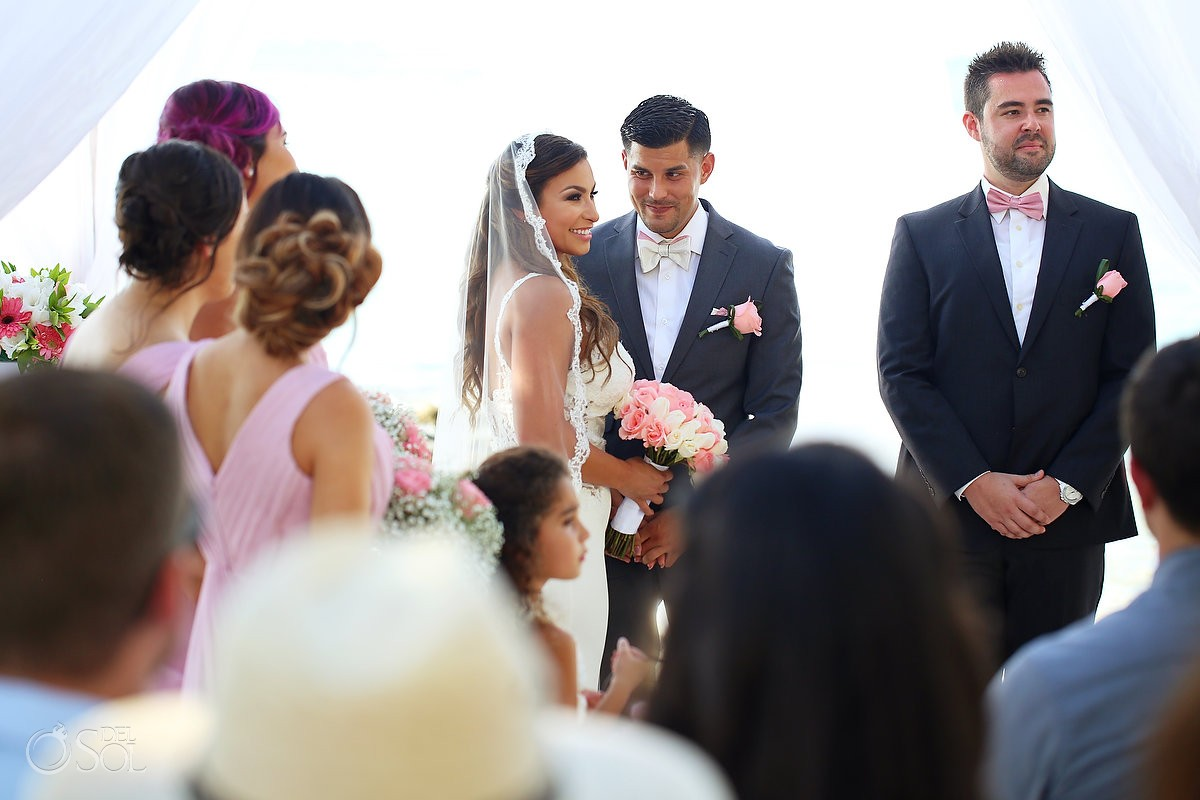 Beach Wedding ceremony Dreams Sands Cancun Resort, Mexico