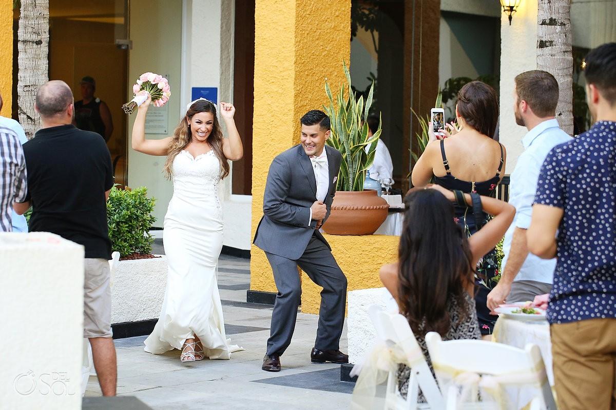 Wedding Reception entrance, Location El patio terrace, Dreams Sands Cancun, mexico