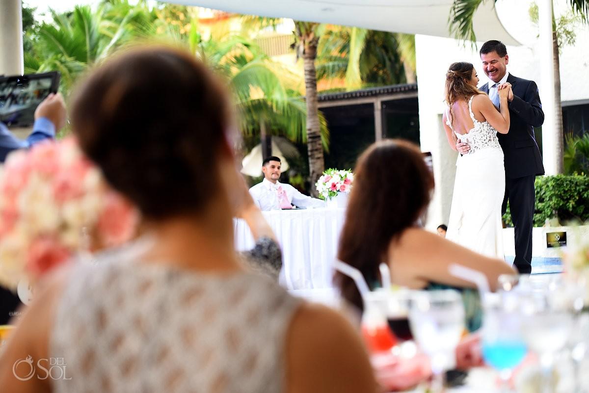 First dance Wedding Reception, El patio terrace, Dreams Sands Cancun, mexico