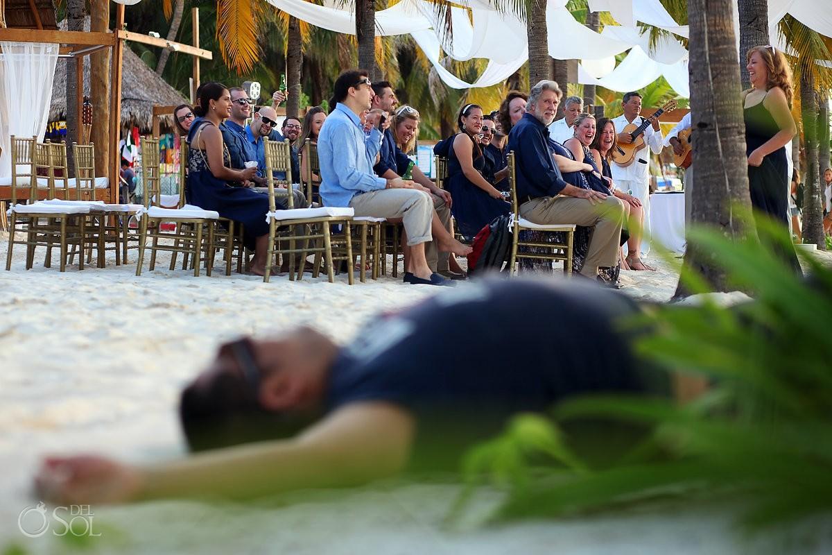 top destination wedding photobomb at isla mujeres mexico d