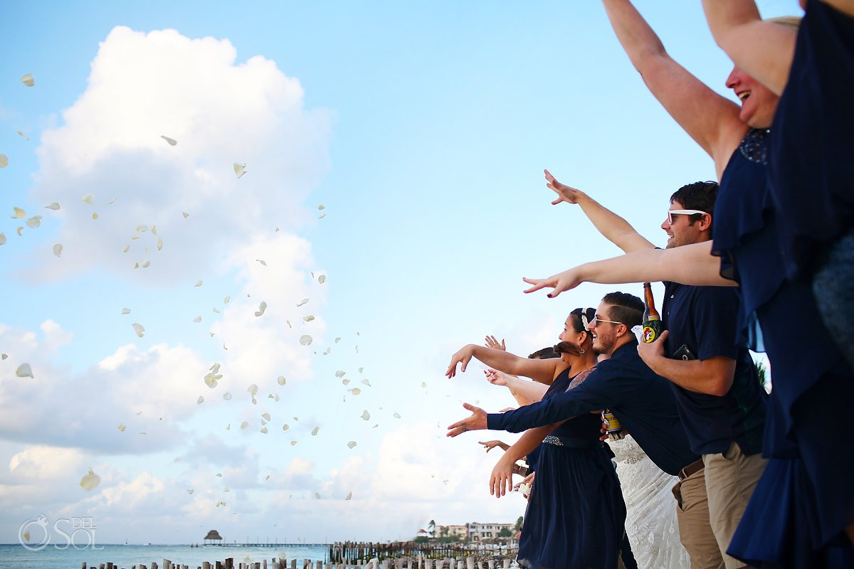 cosmic wedding ceremony on isla mujeres mexico