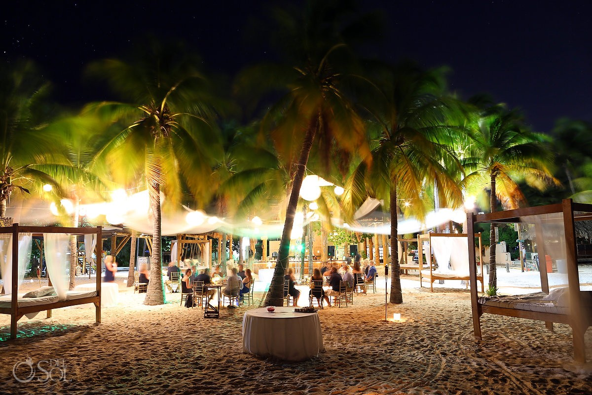 beach wedding reception on isla mujeres mexico