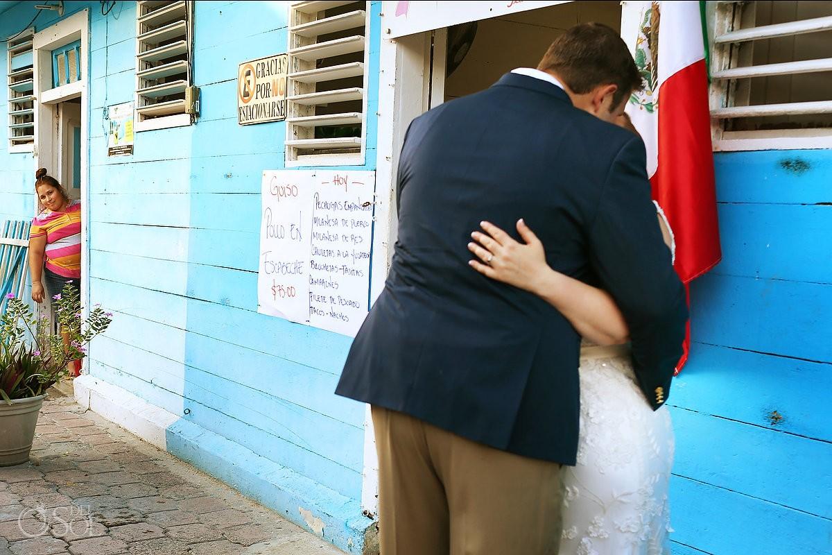 Creative Wedding Portraits, street photography, Caribbean Island life, Isla Mujeres, Mexico