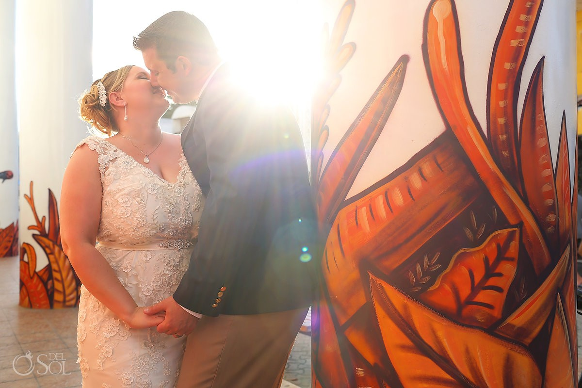 Sunset Wedding Portraits, mural, Isla Mujeres, Mexico