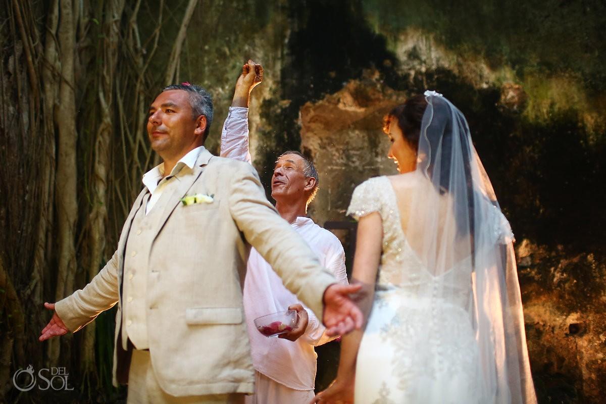 Mayan wedding ceremony, elopement, chapel ruins, Hacienda Uayamon, Campeche, Mexico