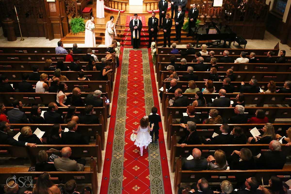 The Wedding procecssional at Mulberry United Methodist Church, Macon, Georgia