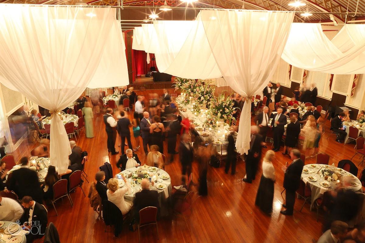 Wedding reception at the Armory Ballroom in macon georgia