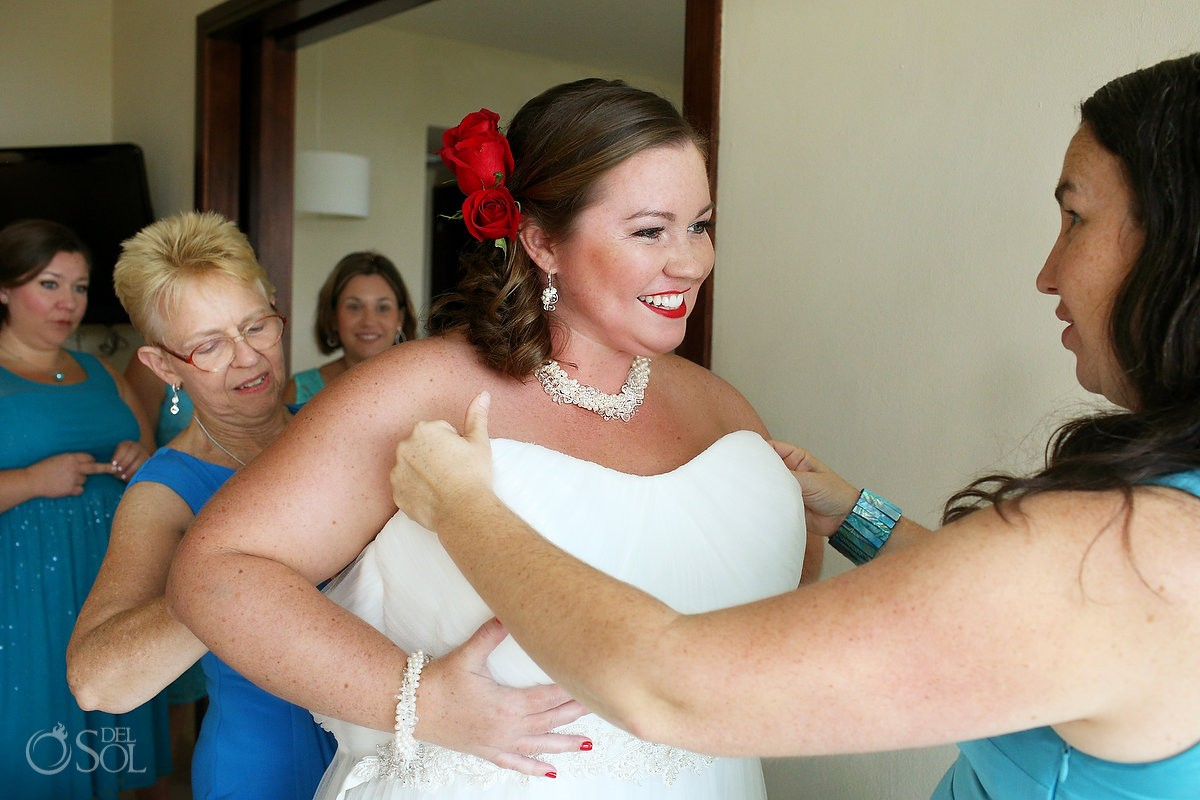 Bride wearing wedding dress by Watters from The Wedding Pavilion at Van Cleve