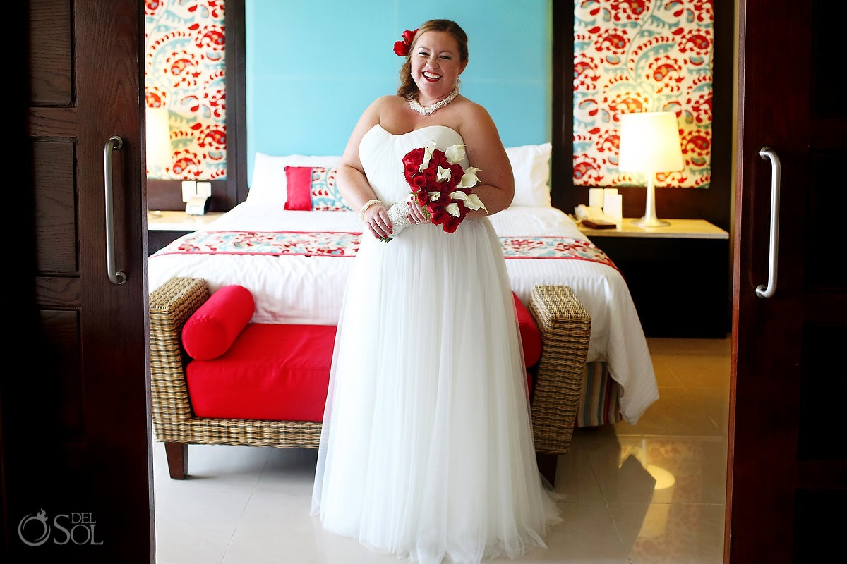 Bride wearing wedding gown by Watters from The Wedding Pavilion at Van Cleve at now jade hotel
