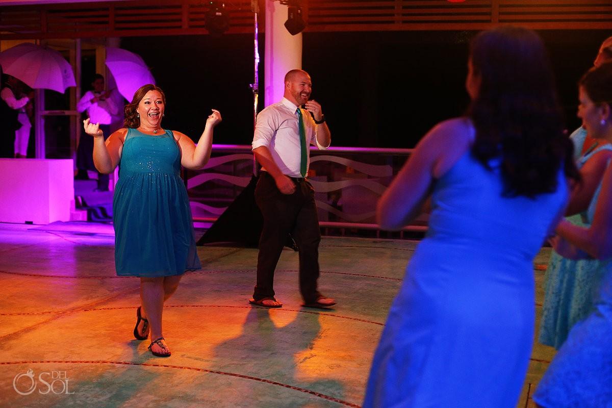 wedding reception at now jade hotel in mexico