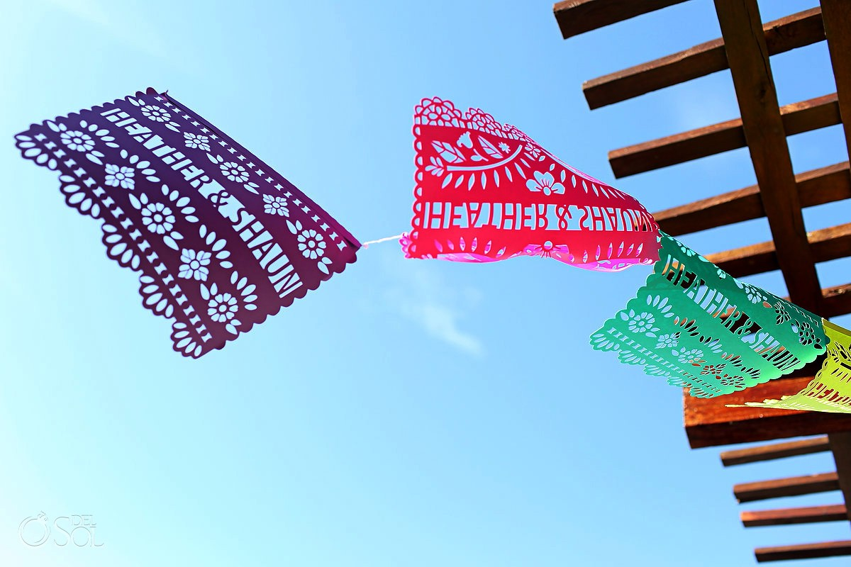 mexican wedding decoration, personalized papel picado names
