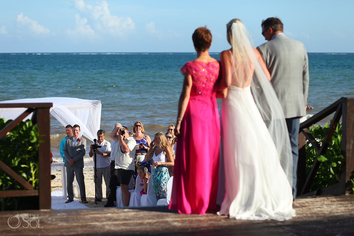 Now Sapphire Beach wedding bride entrance