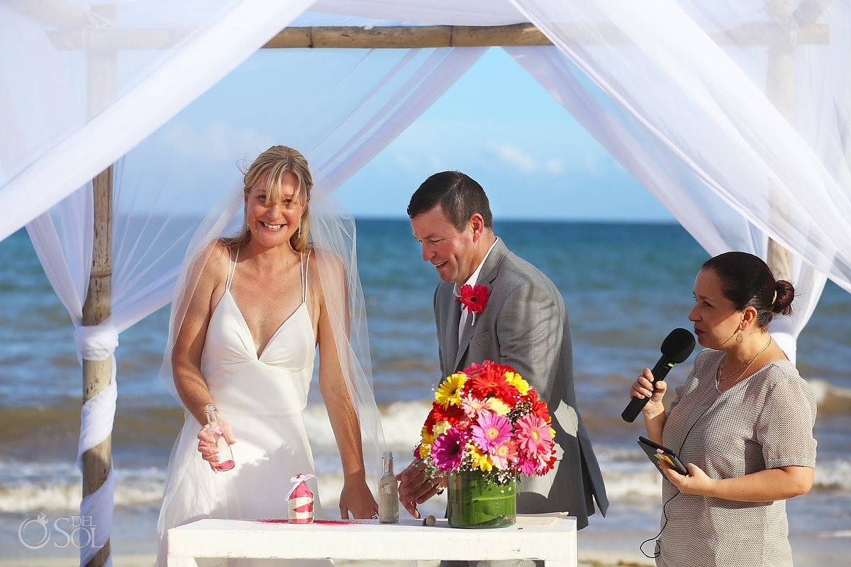 Now Sapphire Beach wedding sand ceremony