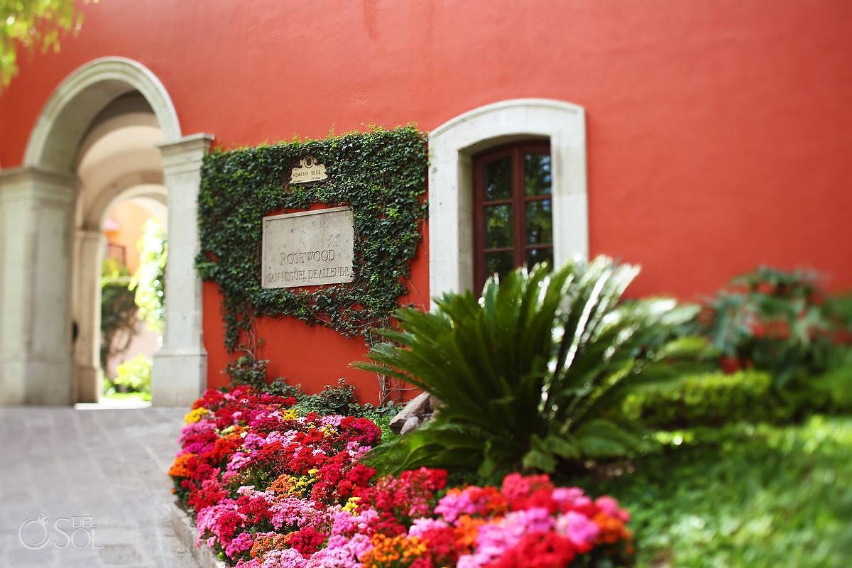 entrance arch Rosewood Hotel San Miguel de Allende
