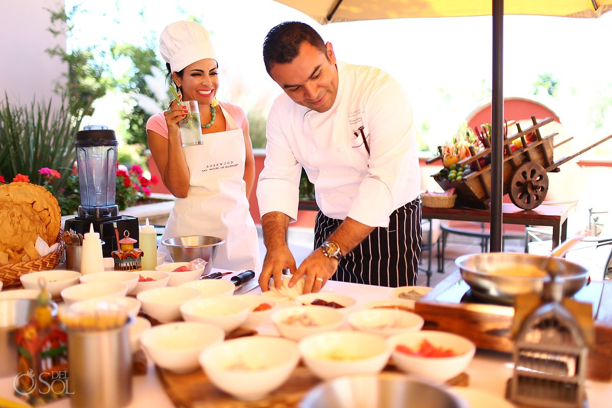 chef cooking lesson Rosewood Hotel San Miguel de Allende