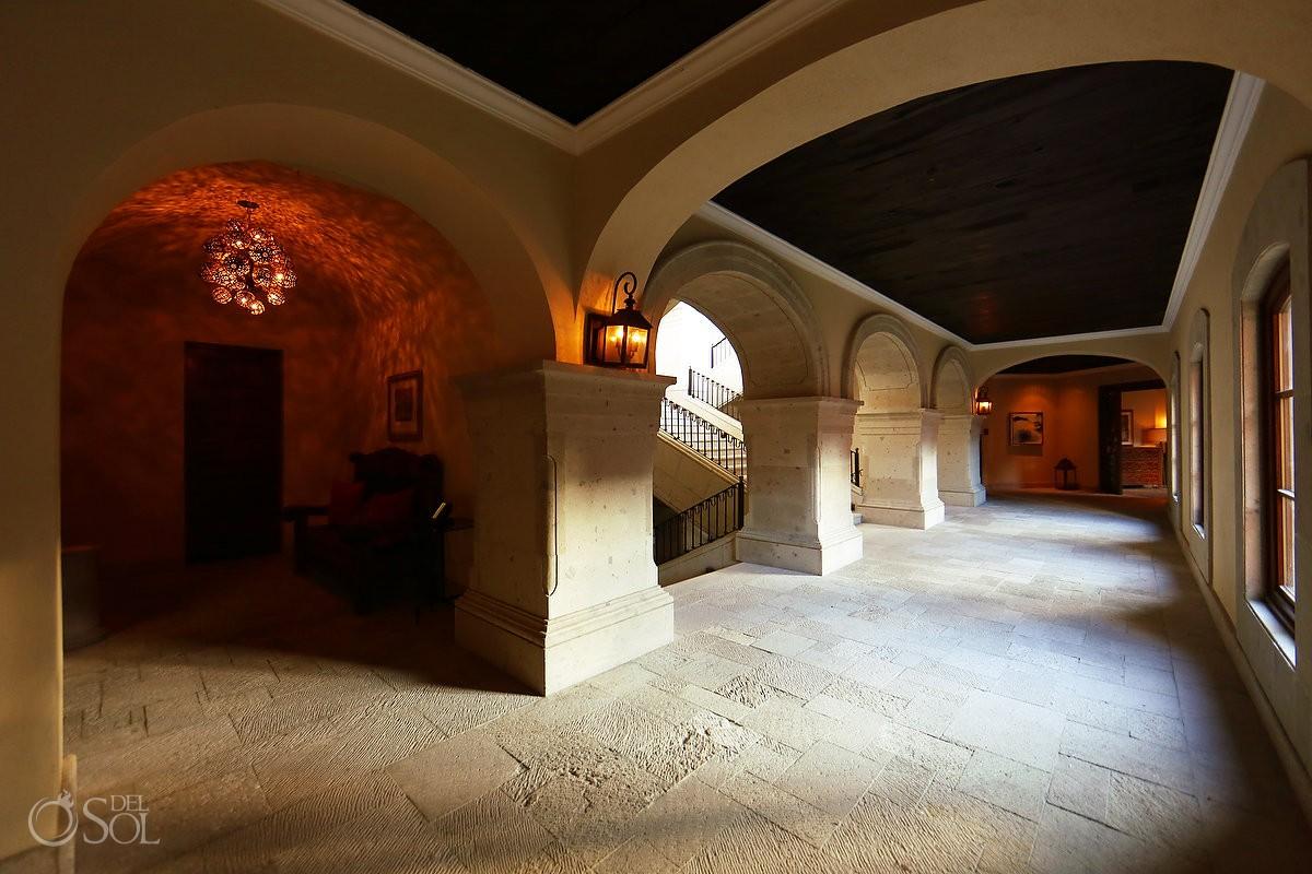colonial architecture stone arch corridor Rosewood Hotel San Miguel de Allende