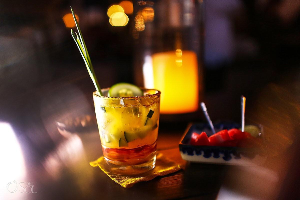 La Luna tapas bar restaurant Rosewood, San Miguel de Allende, Mexico, signature coctail