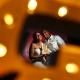Creative wedding portrait Villa Sombras del Viento, Soliman Bay, Riviera Maya, Mexico