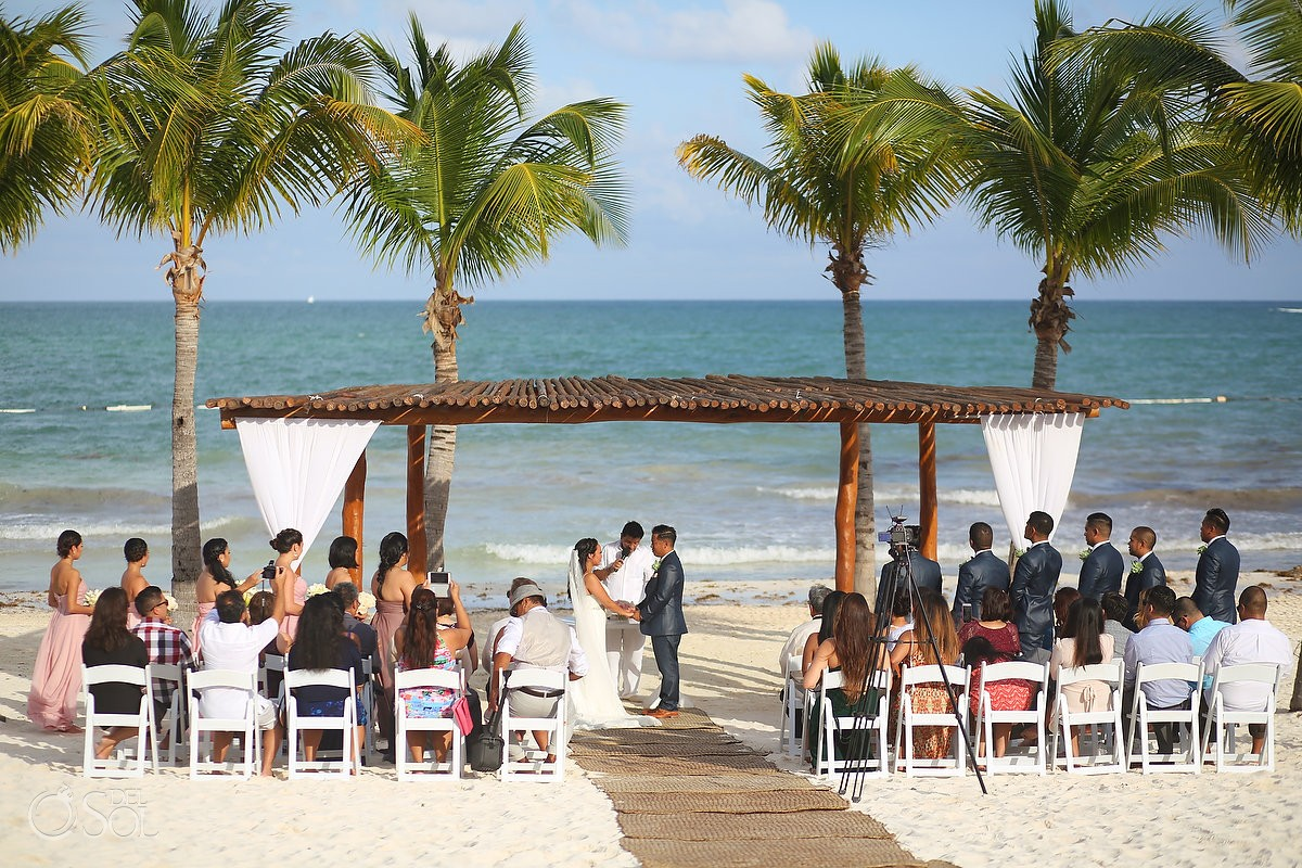 Wedding ceremony, beach gazebo Secrets Maroma, Riviera Cancun, Mexico