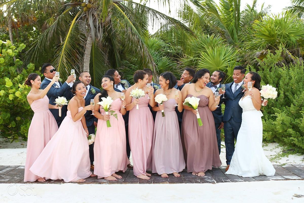 wedding party Secrets Maroma Beach Riviera Cancun, Mexico