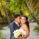 golden hour wedding portrait, Secrets Maroma Beach Riviera Cancun, Mexico