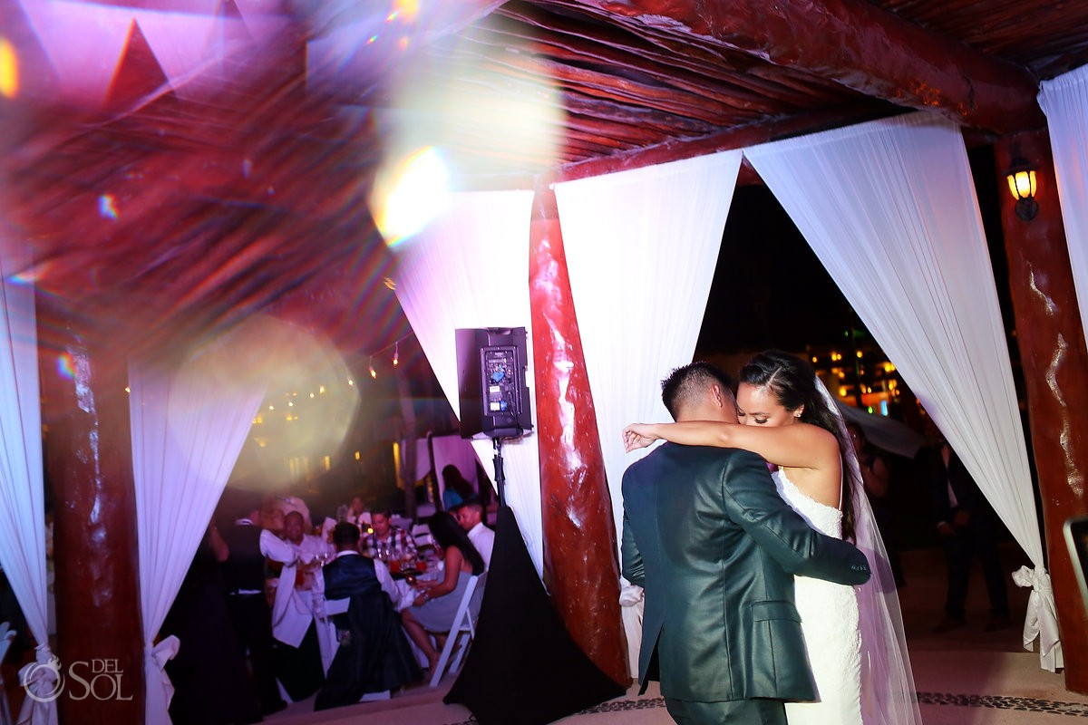 first dance, Wedding reception gazebo terrace, Secrets Maroma Riviera Cancun, Mexico