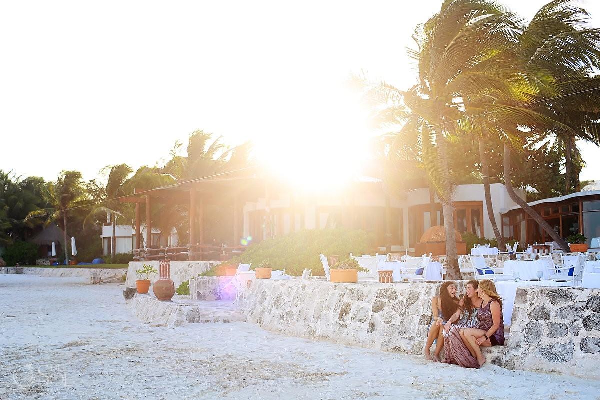 golden hour beach Family Portraits Belmond Maroma, Playa del Carmen, Mexico