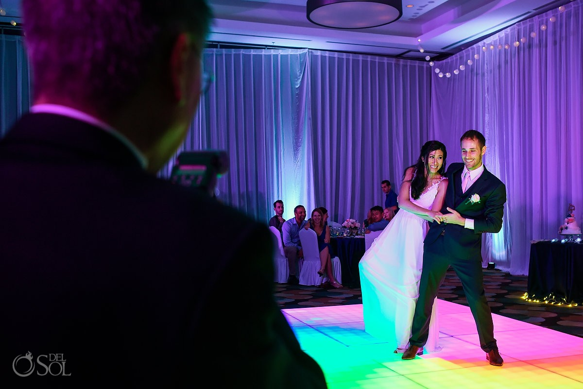 Funny first dance, wedding reception Live Aqua Cancun, Mexico