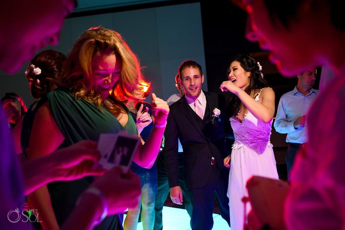 Bride groom dancing wedding reception Live Aqua Cancun, Mexico