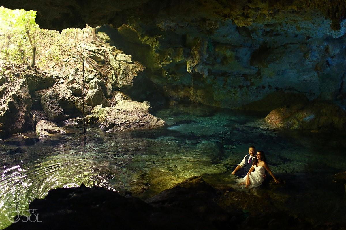 Cenote trash dress, cave, Riviera Maya, Mexico