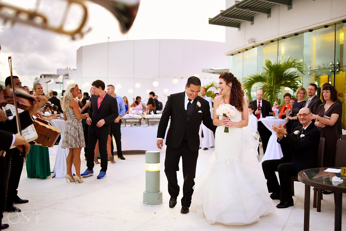 Beach Palace Cancun Wedding sky terrace