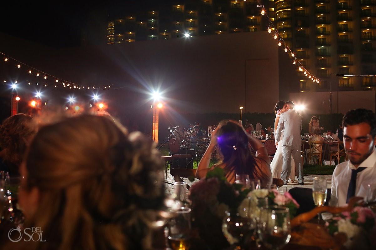 First dance wedding reception, garden Iberostar Cancun, Mexico