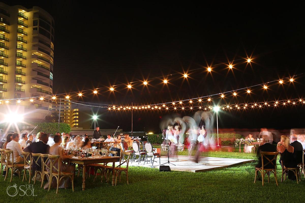 flamenco dancers wedding reception entertainment, long exposure, garden Wedding Iberostar Cancun, Mexico