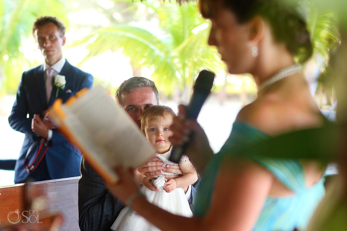 cute kid watching catholic mass, church chapel wedding Capilla Jesucristo Pescador, Isla La Pasion, Mexico
