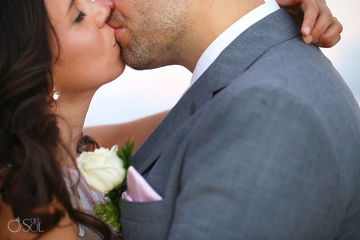 creative wedding portrait, kiss detail destination wedding Isla La Pasion, Cozumel, Mexico