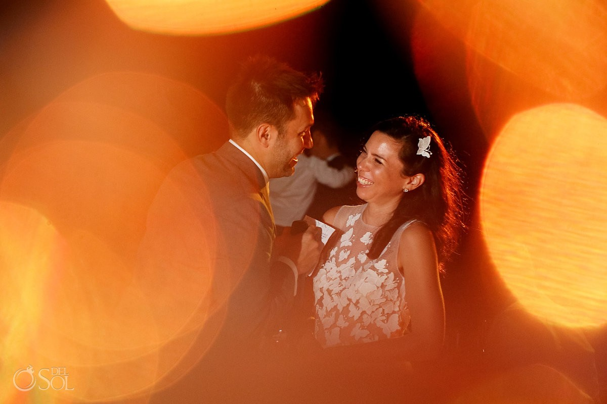 Bride groom speach candid portrait, Caribbean Island Wedding reception, Isla Pasion Cozumel Mexico
