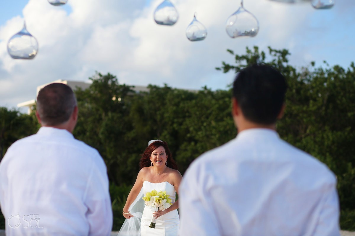 Bride entrance, Beach Wedding Elopement Paradisus, Playa del Carmen, Mexico