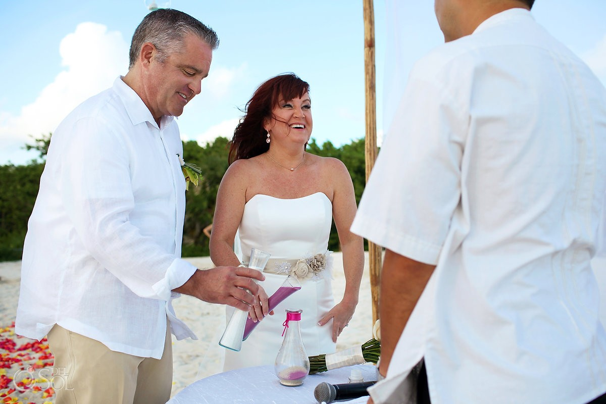 Sand ceremony, Beach Wedding Elopement Paradisus, Playa del Carmen, Mexico