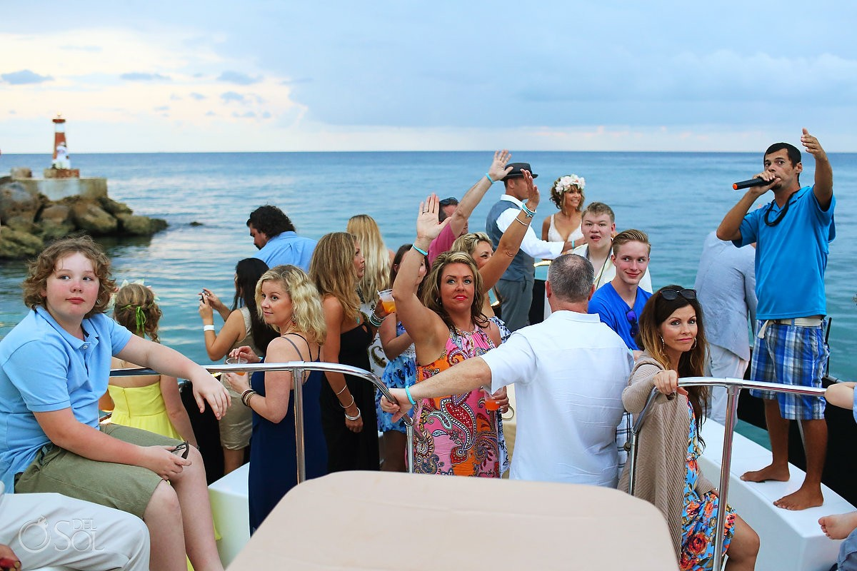 wedding photo of bride and groom on boat h2o cruises private charter