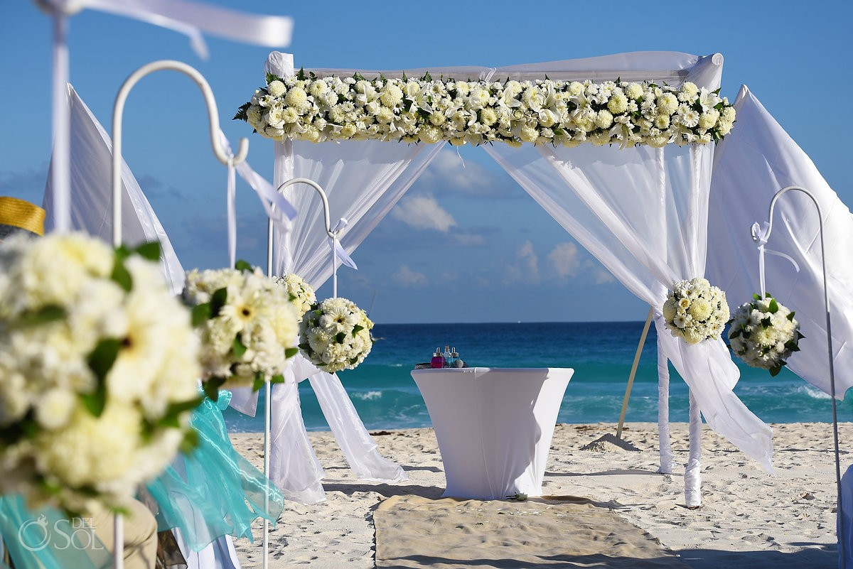 Wedding Reception Main Pool Fiesta Americana Condesa Cancun Mexico Previous Next View More Photos