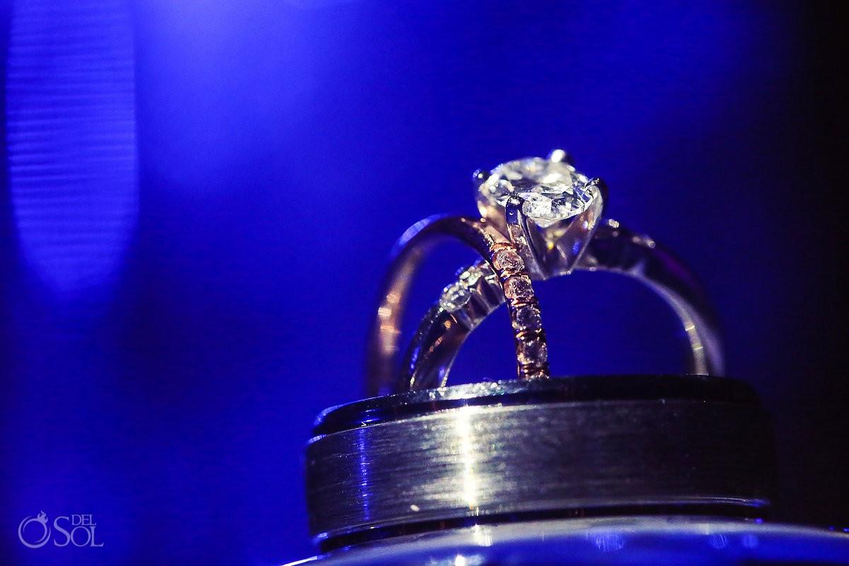 ring macro photograph blue light