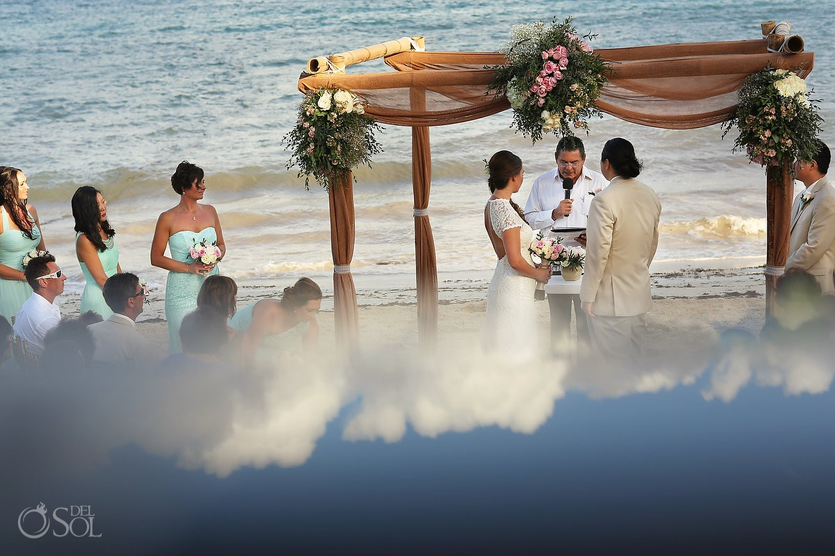 ocean and sky become one at Now Sapphire Riviera Cancun wedding